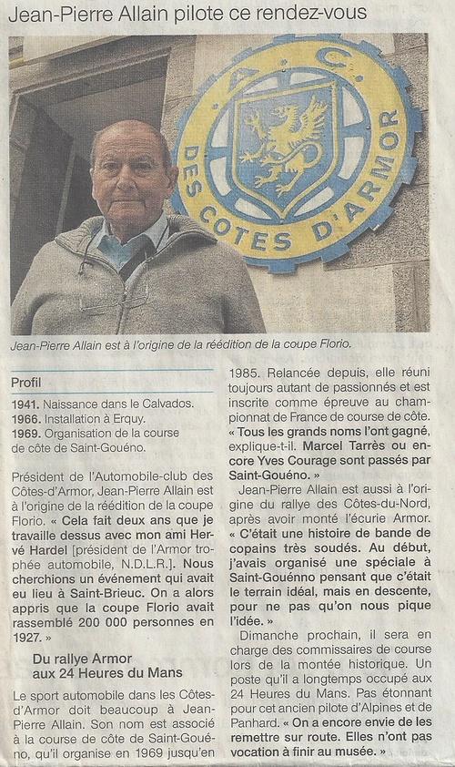 Jean-Pierre ALLAIN à l''origine de la réédition de la Coupe Florio en 2011