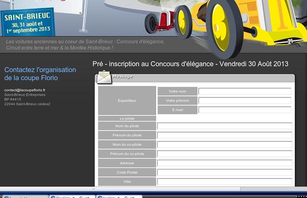 les formulaires de pre-inscription sont en ligne