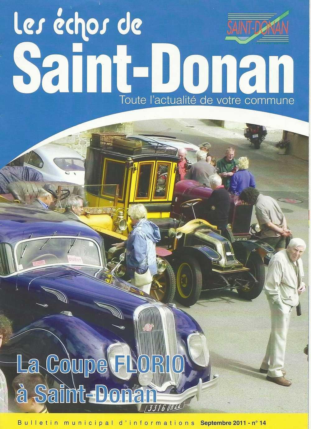 Saint Donan, commune de 1500 habitants, et de l''agglomération de Saint Brieuc accueille le rallye touristique de la Coupe Florio en 2011 0